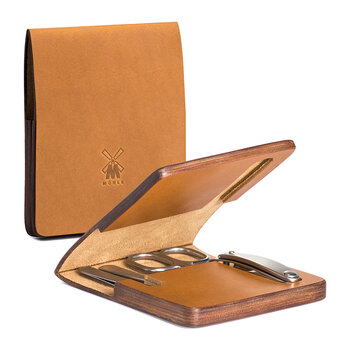 Travel Manicure Set with Cowhide Case