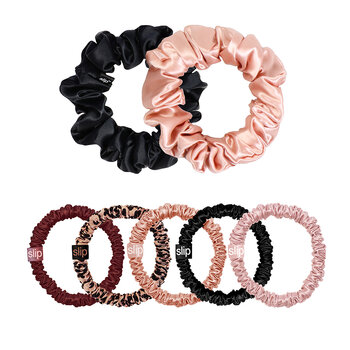 Limited Edition Mega Scrunchie Set - Plum/Rose