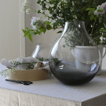 No 24 Flower Vase - Smoked Grey