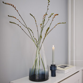 No 3 Flower Vase - Indigo Blue