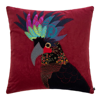 Black Cockatoo Pillow - 50x50cm