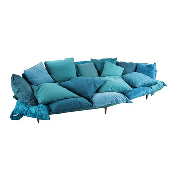 Comfy Upholstered Sofa - Turquoise