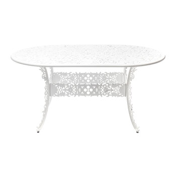Industry Collection Aluminium Oval Table - White