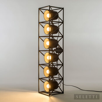 Metal Multi Hanging Line Lamp - Black