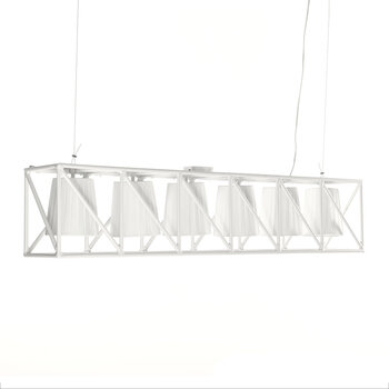 Metal Multi Hanging Line Lamp - White