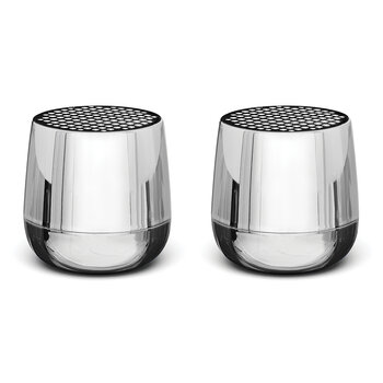 Twin Mino+ Bluetooth Speaker Set - Metallic Chrome