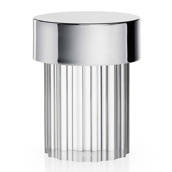 Last Order Fluted Outdoor Table Light - Stainless Steel