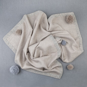 Simi Baby Blanket - Beige/Soft Grey
