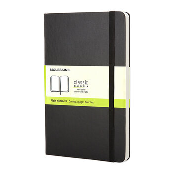 Hardback Pocket Plain Notebook - Black