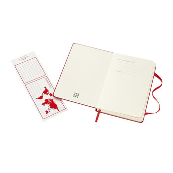 Hardback Pocket Plain Notebook - Red