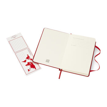 Hardback Pocket Ruled Notebook - Red