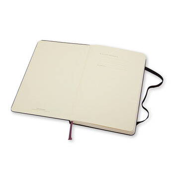 Large Hardback Plain Notebook - Black