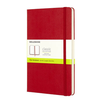 Large Hardback Plain Notebook - Red