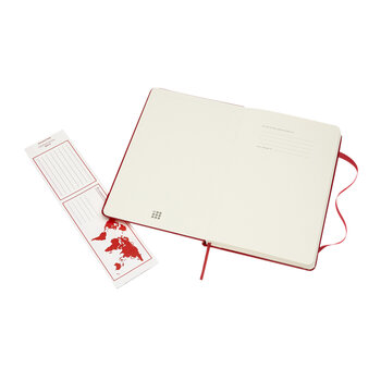 Large Hardback Ruled Notebook - Red