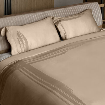 Artisan Brush Duvet Set - Dusty Bronze