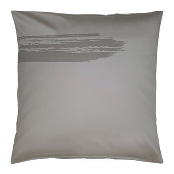 Artisan Brush Pair Of Pillowcases - Grey On Beige