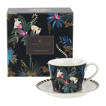 Tahiti Collection Teacup and Saucer - Lemur