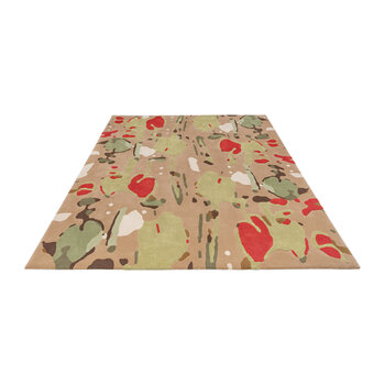 Apples & Hearts Rug - Red/Green