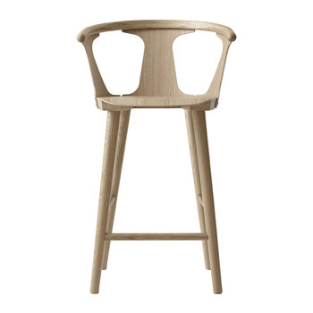 Counter Wooden Stool SK7 - White