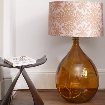 The Fitzpatrick Chunky Floor Lamp - Amber