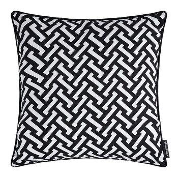 Zig Zag Cotton Pillow - 50x50cm - Black