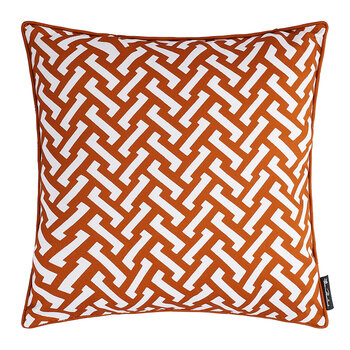 Zig Zag Cotton Pillow - 50x50cm - Burnt Orange