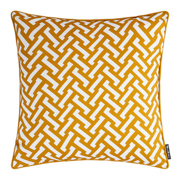 Zig Zag Cotton Pillow - 50x50cm - Mustard