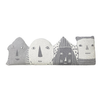Faces Bolster Cushion