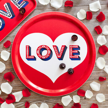 'Word' Round Tray - Love