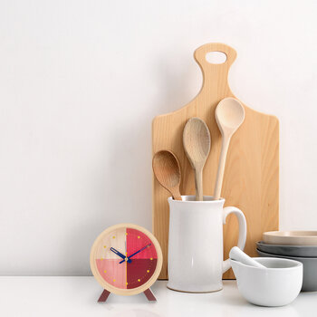 Flor Desk Clock - Red