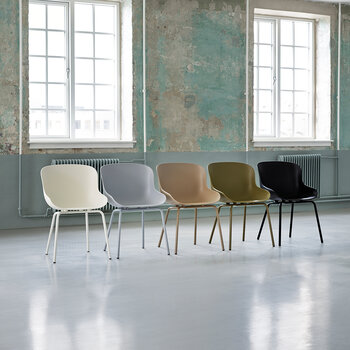 Hyg Dining Chair - Front Upholstery Ultra Leather/Steel White