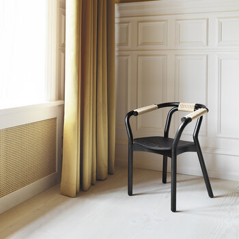 Knot Dining Chair - Black/Nature