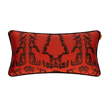 Krueger Pillow With Piping - 35x70cm - Orange