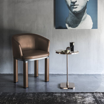 Opera Round Side Table - Rose Gold - Large