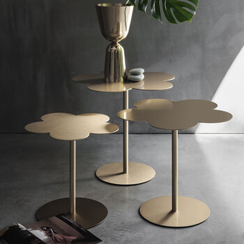 Flowers Side Table - Medium - Brass