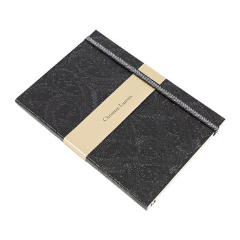 A5 Paseo Embossed Notebook - Black