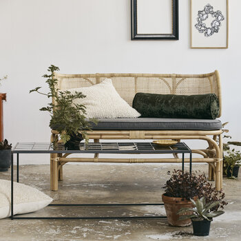 Bali Bench With Rounded Back - Natural