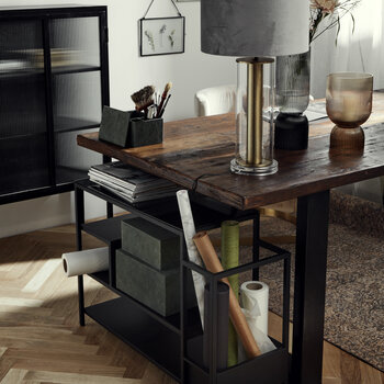 Vintage Iron Table With Wooden Top