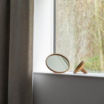 Satellite Mirror - Oak