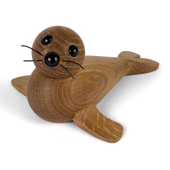 Seal Wooden Figurine - Red Oak - Large