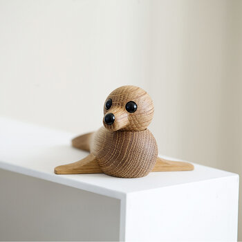 Seal Wooden Figurine - Red Oak - Small