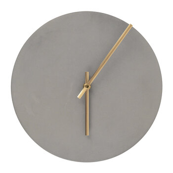 Watch Wall Clock - Concrete