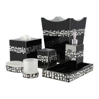 Swarovski Budapest Toothbrush Holder - Ebony