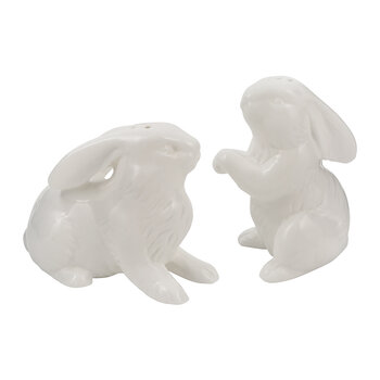 Felicity Salt and Pepper Shakers - Set of 2  - White