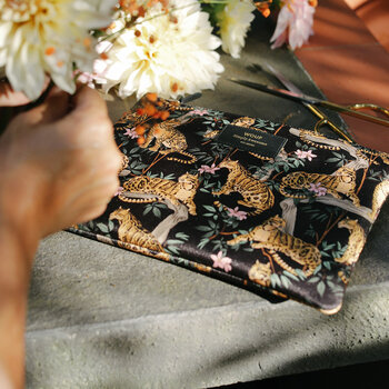 Black Lazy Jungle iPad Case
