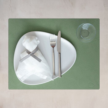 Hippo Square Table Mat - Set of 4 - Forest Green
