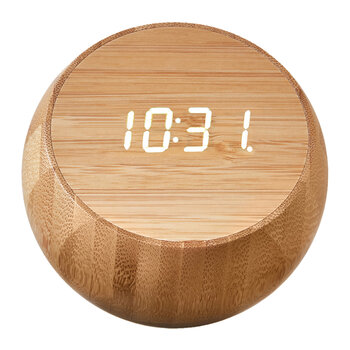 Tumbler Click Clock - Natural Bamboo Wood