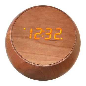 Tumbler Click Clock - Natural Cherry Wood