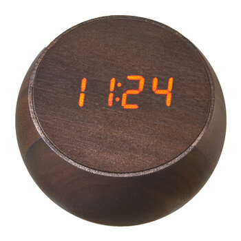 Tumbler Click Clock - Natural Walnut Wood