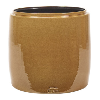 Glazed Shades Flower Pot - Honey